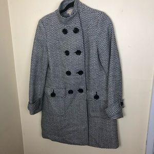 Michael Michael Kota chevron print woven jacket m
